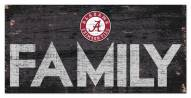 "Alabama Crimson Tide 6"" x 12"" Family Sign"