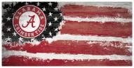 "Alabama Crimson Tide 6"" x 12"" Flag Sign"