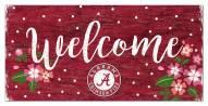 """Alabama Crimson Tide 6"""" x 12"""" Floral Welcome Sign"""
