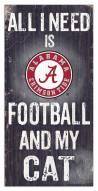 "Alabama Crimson Tide 6"" x 12"" Football & My Cat Sign"