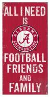 "Alabama Crimson Tide 6"" x 12"" Friends & Family Sign"