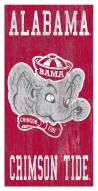 "Alabama Crimson Tide 6"" x 12"" Heritage Logo Sign"