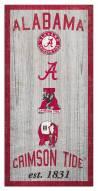 "Alabama Crimson Tide 6"" x 12"" Heritage Sign"