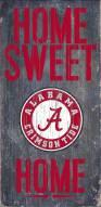 "Alabama Crimson Tide 6"" x 12"" Home Sweet Home Sign"