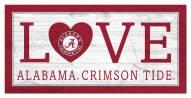 "Alabama Crimson Tide 6"" x 12"" Love Sign"