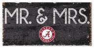 "Alabama Crimson Tide 6"" x 12"" Mr. & Mrs. Sign"