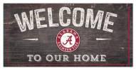 "Alabama Crimson Tide 6"" x 12"" Welcome Sign"