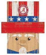 "Alabama Crimson Tide 6"" x 5"" Patriotic Head"