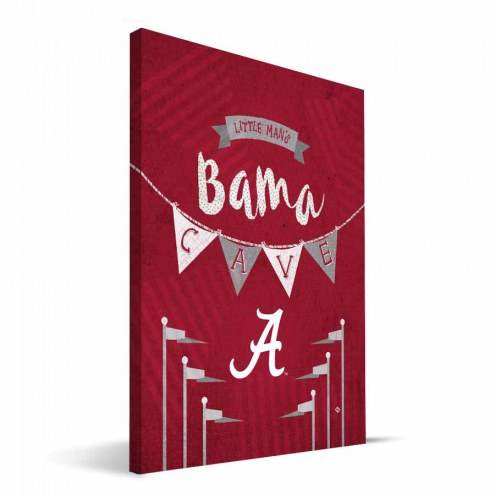 "Alabama Crimson Tide 8"" x 12"" Little Man Canvas Print"