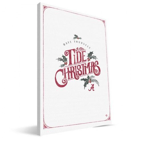 "Alabama Crimson Tide 8"" x 12"" Merry Little Christmas Canvas Print"