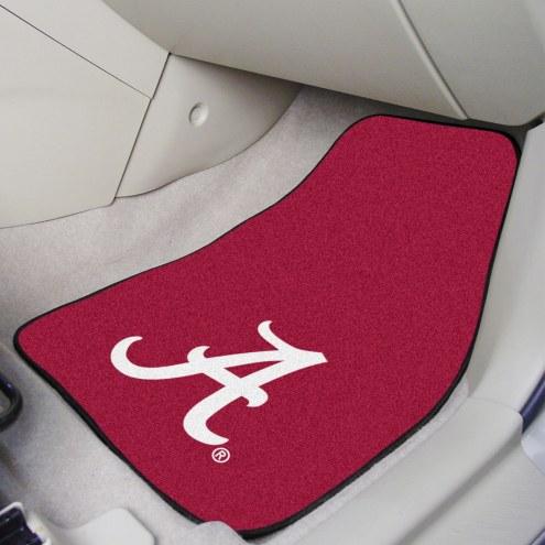 """Alabama Crimson Tide """"A"""" 2-Piece Carpet Car Mats"""