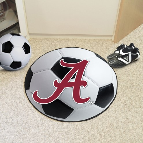 """Alabama Crimson Tide """"A"""" Soccer Ball Mat"""