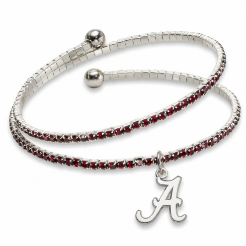 Alabama Crimson Tide Amped Logo Crystal Bracelet