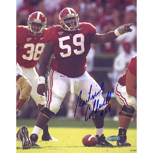 """Alabama Crimson Tide Antoine Caldwell Pointing At The Line Signed 16"""" x 20"""" Photo"""