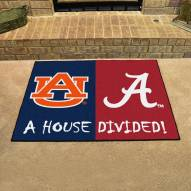Alabama Crimson Tide/Auburn Tigers House Divided Mat
