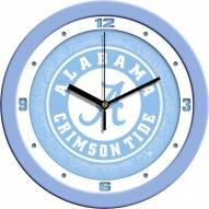 Alabama Crimson Tide Baby Blue Wall Clock