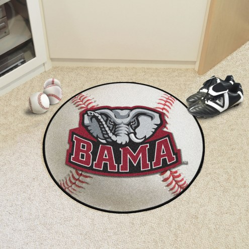 Alabama Crimson Tide Baseball Rug
