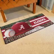 Alabama Crimson Tide Baseball Runner Rug