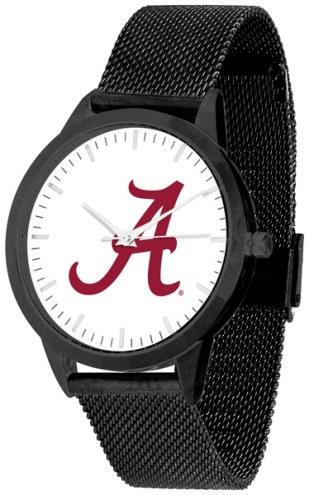 Alabama Crimson Tide Black Mesh Statement Watch