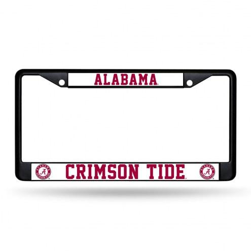 Alabama Crimson Tide Black Metal License Plate Frame