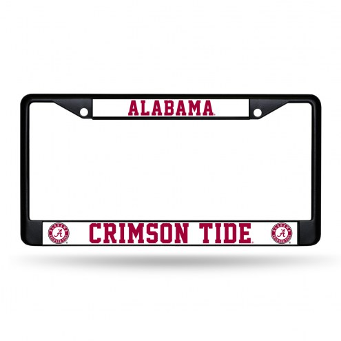 Alabama Crimson Tide Black Metal License Plate Frame