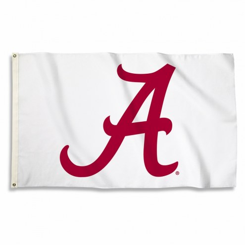 Alabama Crimson Tide 3' x 5' White Flag
