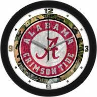 Alabama Crimson Tide Camo Wall Clock