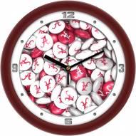 Alabama Crimson Tide Candy Wall Clock