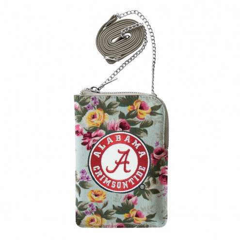 Alabama Crimson Tide Canvas Floral Smart Purse