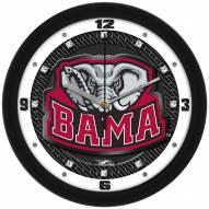 Alabama Crimson Tide Carbon Fiber Wall Clock