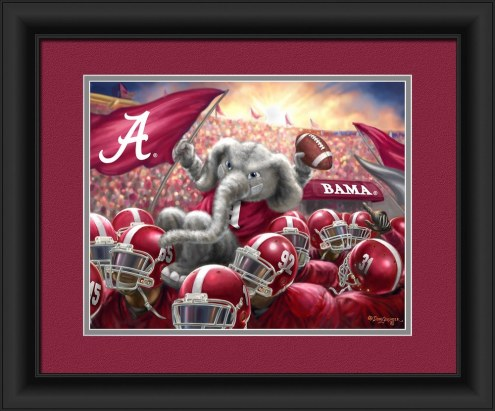 Alabama Crimson Tide Celebration Framed Print
