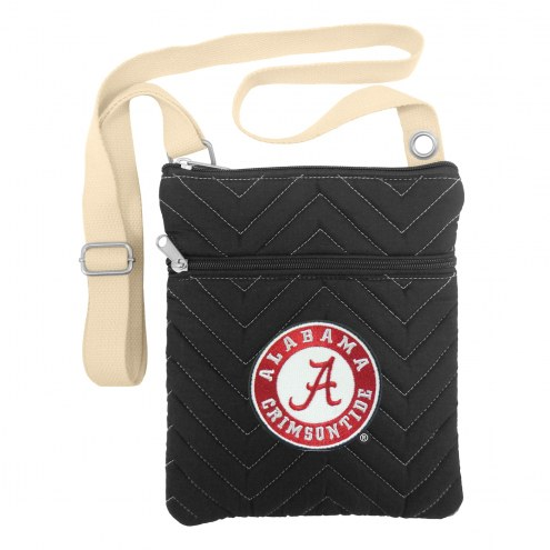Alabama Crimson Tide Chevron Stitch Crossbody Bag