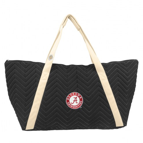 Alabama Crimson Tide Chevron Stitch Weekender Bag
