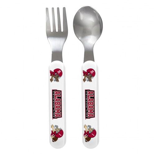 Alabama Crimson Tide Children's Fork & Spoon Set