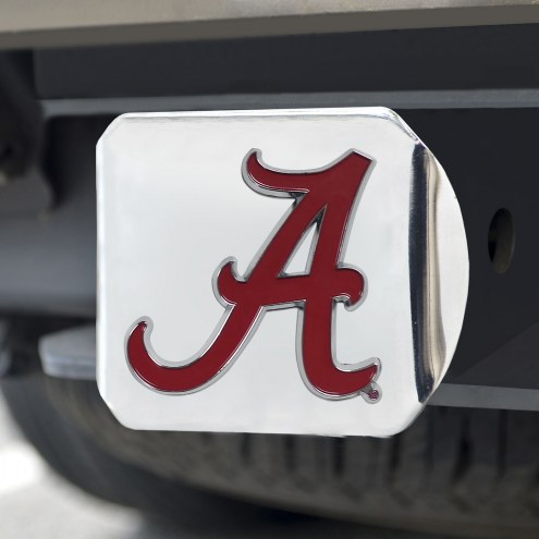 Alabama Crimson Tide Chrome Color Hitch Cover