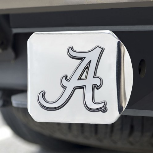 Alabama Crimson Tide Chrome Metal Hitch Cover