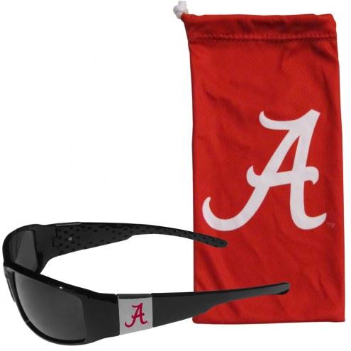 Alabama Crimson Tide Chrome Wrap Sunglasses & Bag