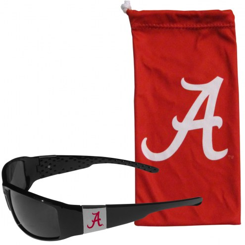 Alabama Crimson Tide Chrome Wrap Sunglasses & Bag
