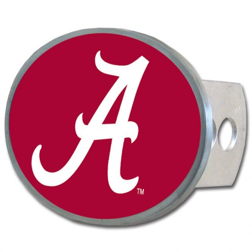 Alabama Crimson Tide Class II and III Oval Metal Hitch Cover