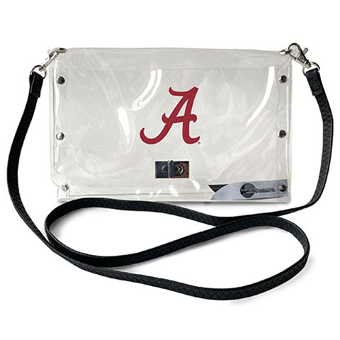 Alabama Crimson Tide Clear Envelope Purse
