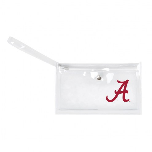 Alabama Crimson Tide Clear Ticket Wristlet