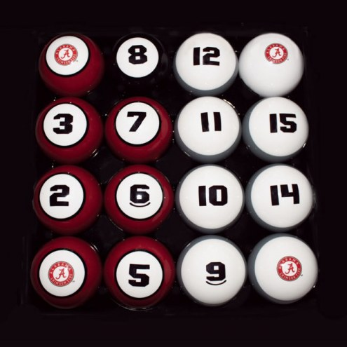 Alabama Crimson Tide College Billiard Balls Set