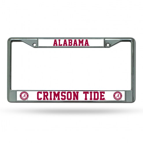 Alabama Crimson Tide College Chrome License Plate Frame