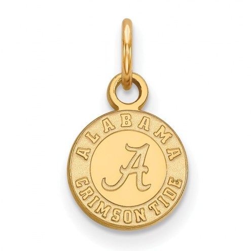 Alabama Crimson Tide College Sterling Silver Gold Plated Extra Small Pendant