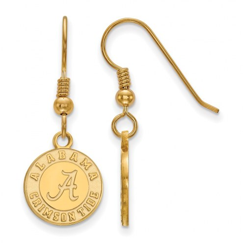 Alabama Crimson Tide College Sterling Silver Gold Plated Small Dangle Earrings