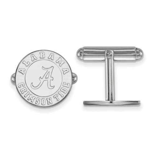 Alabama Crimson Tide College Sterling Silver Cuff Links