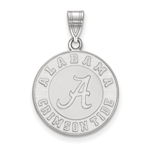 Alabama Crimson Tide Sterling Silver Large Pendant
