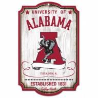 Alabama Crimson Tide College Vault Wood Sign
