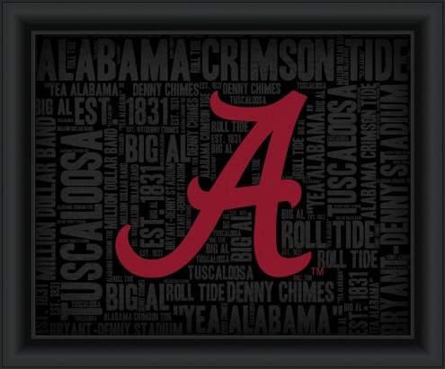Alabama Crimson Tide College Word Cloud