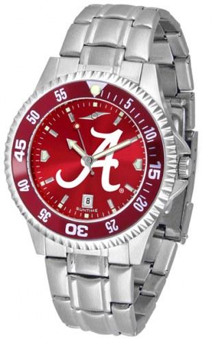 Alabama Crimson Tide Competitor Steel AnoChrome Color Bezel Men's Watch
